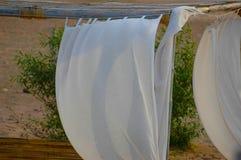 Tenda da tessuto bianco Fotografia Stock Libera da Diritti