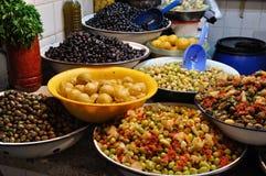 Tenda das azeitonas em Marrocos Fotografia de Stock