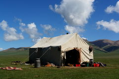 Tenda del nomade Immagini Stock Libere da Diritti