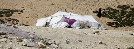Tenda del nomade in Ladakh, India Fotografia Stock