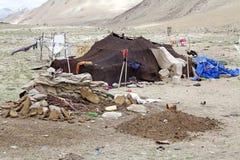 Tenda del nomade in Ladakh, India Immagini Stock