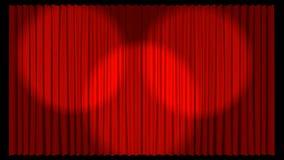 tenda del teatro illustrata 3d nel colore rosso royalty illustrazione gratis