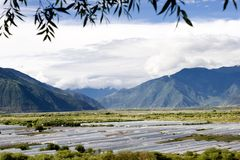 Tenda dell'azienda agricola nella zona di montagna Fotografie Stock Libere da Diritti
