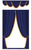 Tenda dell'azzurro di vettore Fotografie Stock