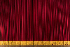 Tenda della fase del teatro Fotografia Stock Libera da Diritti