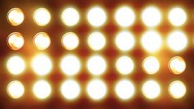 Tenda della luce intermittente che scorre giù archivi video