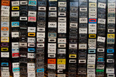 Tenda delle audio cassette Immagine Stock Libera da Diritti