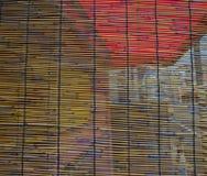 Tenda di bambù ad una vecchia casa in Katsuura, Giappone Fotografia Stock