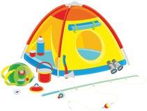 Tenda di campeggio di un turista Immagine Stock Libera da Diritti