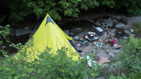 Tenda di campeggio Ti-pi Immagini Stock