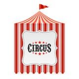 Tenda di circo, fondo del manifesto Immagine Stock