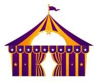Tenda di circo viola Fotografia Stock Libera da Diritti