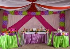 Tenda di compleanno Fotografia Stock