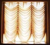 Tenda di finestra di Voil Immagine Stock