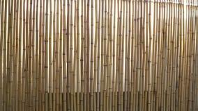 Tenda di finestra fatta di bambù stock footage