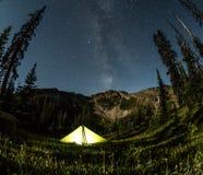 Tenda di Lit alla notte Fotografia Stock