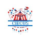 Tenda di Logo Circus illustrazione di stock