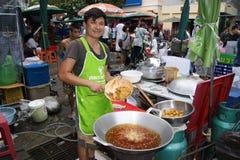 Tenda do alimento da rua em Banguecoque Imagens de Stock Royalty Free