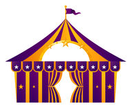 Tenda do circus roxa Fotografia de Stock Royalty Free