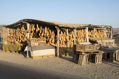 Tenda do mercado das abóboras marrocos África Fotos de Stock Royalty Free