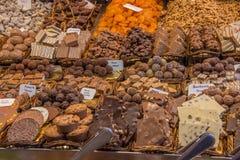 Tenda do mercado do chocolate fotografia de stock