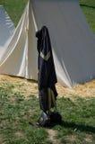 Tenda e memoablilia della guerra civile Fotografia Stock