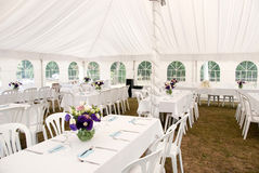 Tenda foranea bianca di cerimonia nuziale Immagini Stock Libere da Diritti