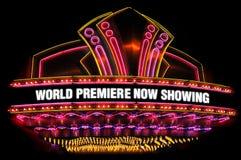 Tenda foranea del teatro di film Immagine Stock Libera da Diritti