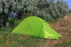 Tenda in foresta Fotografia Stock Libera da Diritti