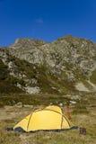 Tenda gialla Immagini Stock