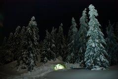 Tenda illuminata Fotografia Stock