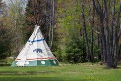 Tenda indiana em Forest Edge Foto de Stock