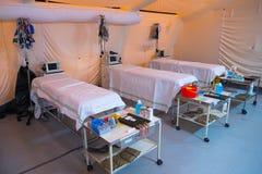 Tenda interna dell'ospedale da campo Immagine Stock Libera da Diritti