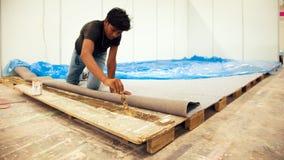 Tenda labour da mostra da construção do indiano Fotografia de Stock Royalty Free