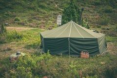 Tenda militare Immagine Stock Libera da Diritti