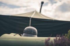 Tenda militare Fotografia Stock Libera da Diritti