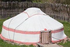 Tenda militare in marcia in una costruzione della fortificazione Fotografie Stock
