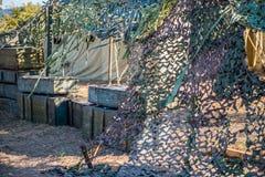 Tenda militare molto grande nel campo Fotografie Stock Libere da Diritti