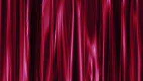 Tenda molle astratta di colore rosso che ondeggia allegro variopinto animato dinamico di nuovo moto universale di qualità del fon video d archivio