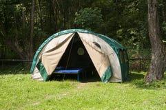Tenda in montagne - Biesczady, Polonia Immagine Stock