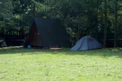 Tenda in montagne - Biesczady, Polonia Fotografie Stock