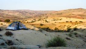 Tenda nel deserto Immagini Stock
