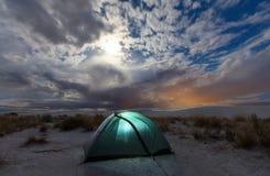 Tenda nel deserto Fotografia Stock Libera da Diritti