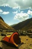 Tenda nella montagna delle Ande Fotografia Stock