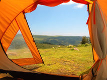 Tenda nella sosta nazionale di Simien fotografie stock libere da diritti