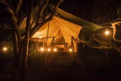 Tenda per accamparsi Fotografia Stock