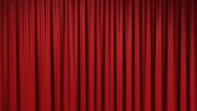 Tenda rossa d'apertura illustrazione di stock