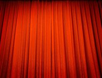 Tenda rossa del teatro Fotografia Stock Libera da Diritti