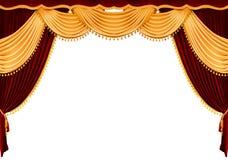 Tenda rossa del teatro Fotografia Stock