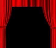 Tenda rossa del teatro con spazio vuoto per testo Immagini Stock Libere da Diritti